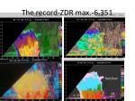 the record zdr max 6 351