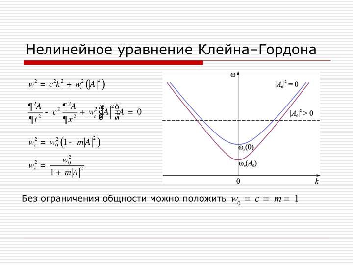 Нелинейное уравнение Клейна–Гордона