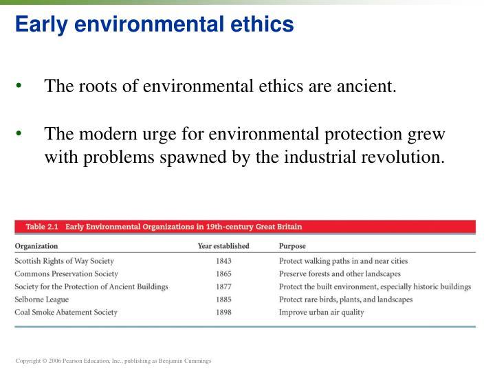 Early environmental ethics