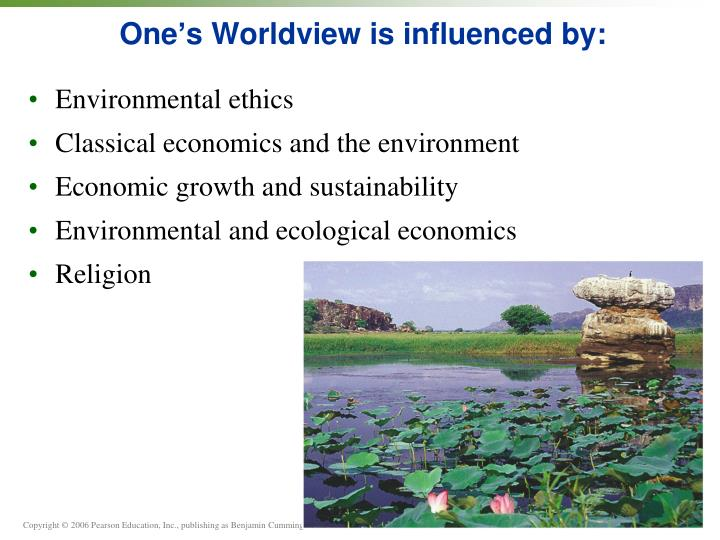 One s worldview is influenced by