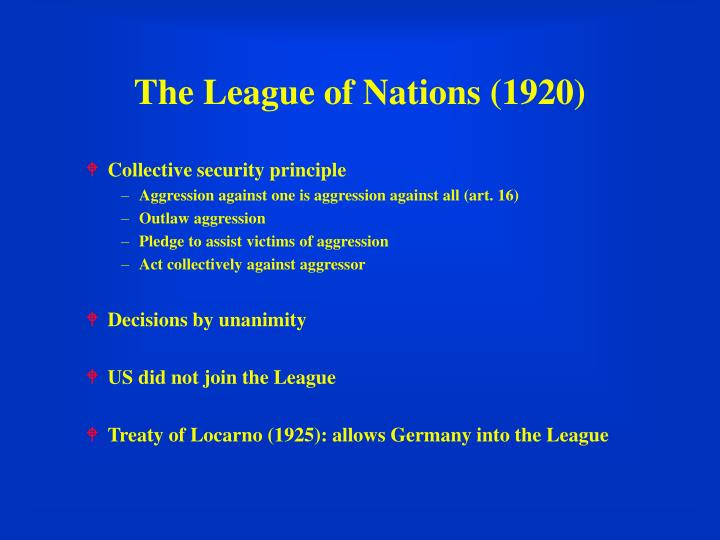 The league of nations 1920