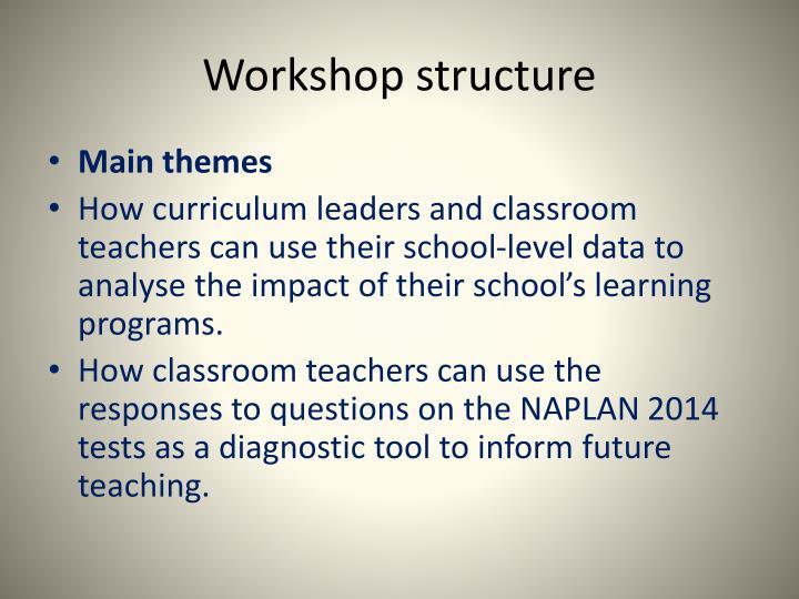 Workshop structure