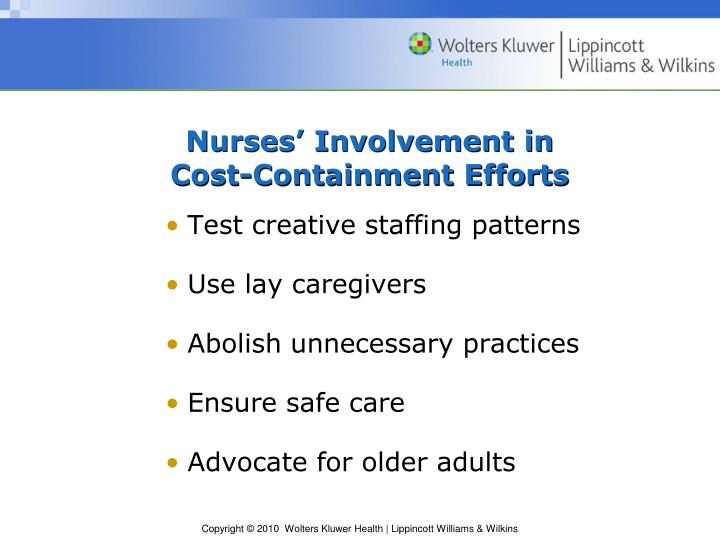 Nurses' Involvement in