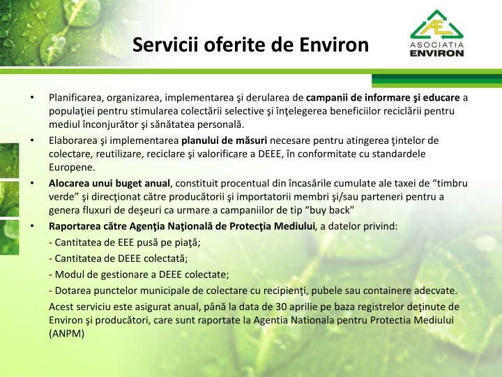 Servicii oferite de Environ