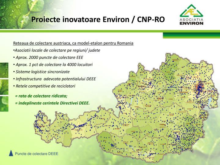 Proiecte inovatoare Environ / CNP-RO