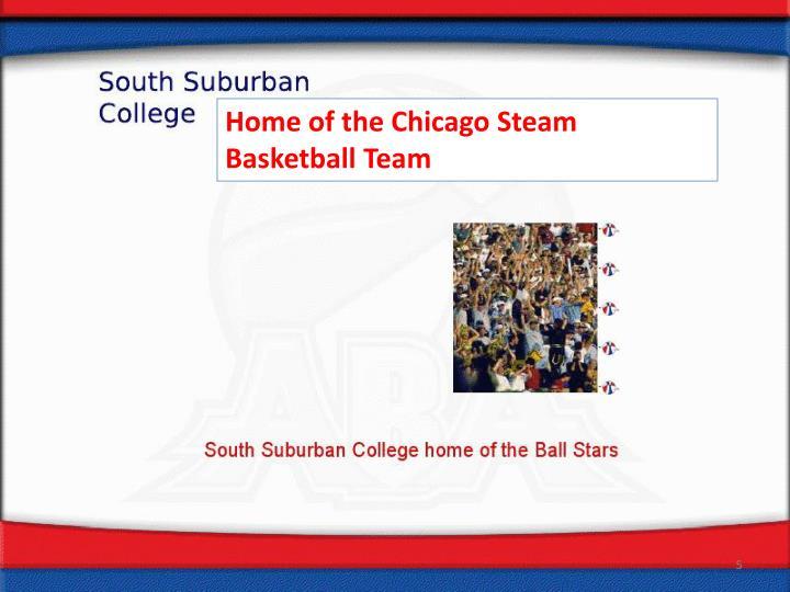 Home of the Chicago Steam Basketball Team