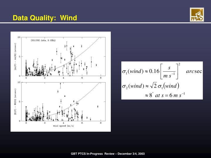 Data Quality:  Wind