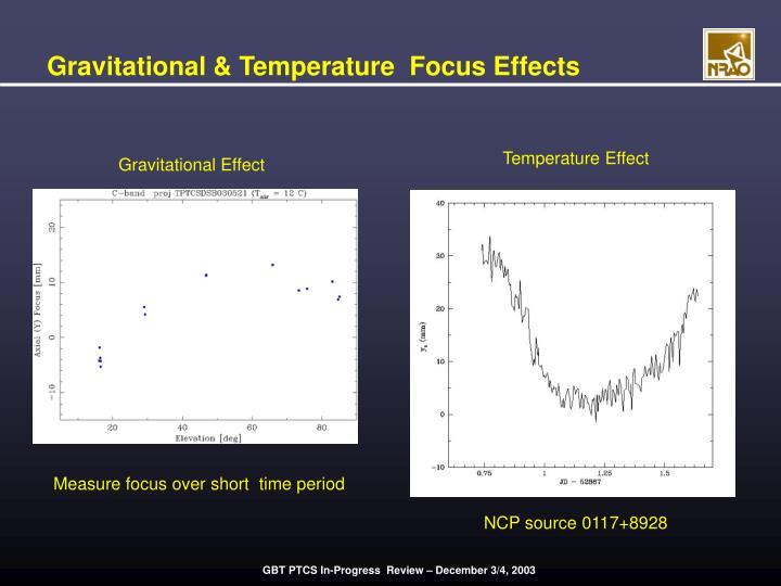 Gravitational & Temperature  Focus Effects