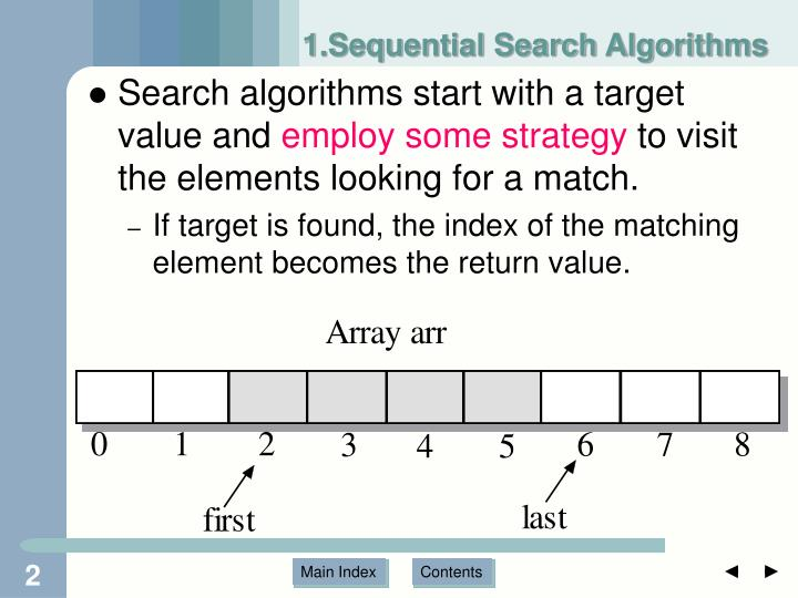 1 sequential search algorithms