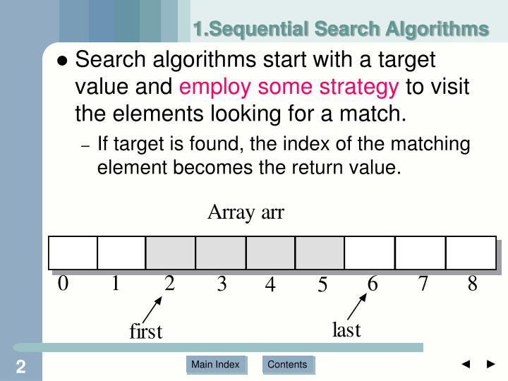 1.Sequential Search Algorithms