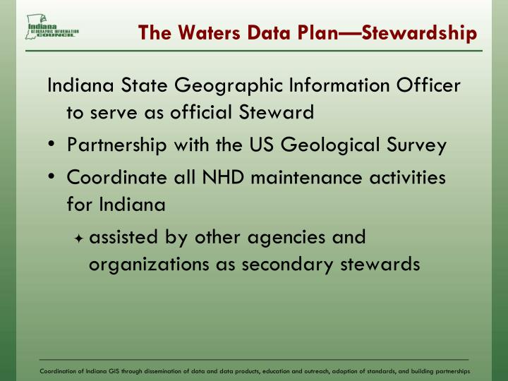 The Waters Data Plan—Stewardship