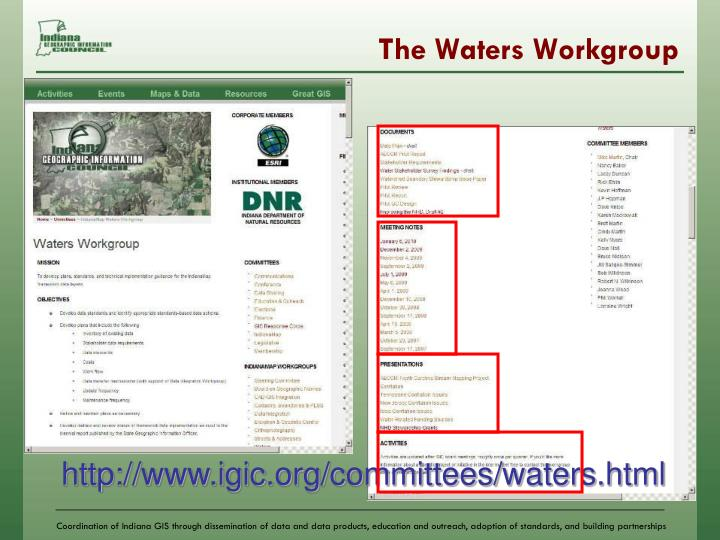 The Waters Workgroup