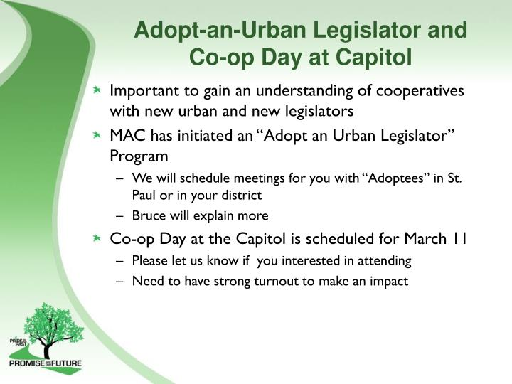 Adopt-an-Urban Legislator and