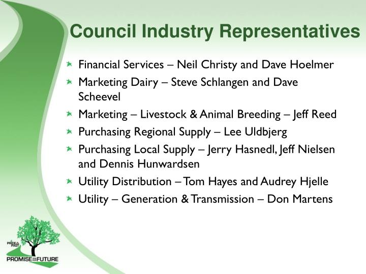Council Industry Representatives