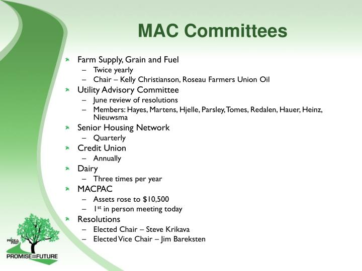 MAC Committees