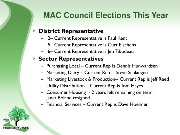 MAC Council Elections This Year