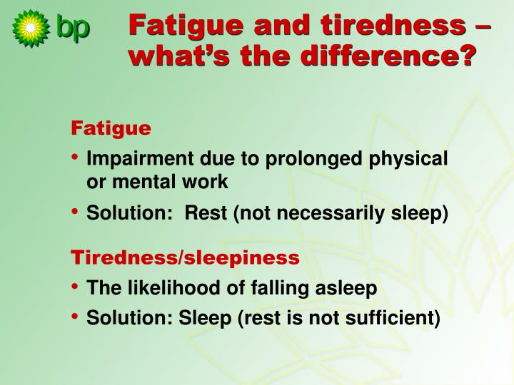 Fatigue and tiredness – what's the difference?