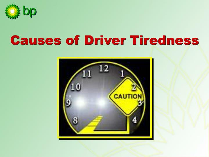 Causes of Driver Tiredness