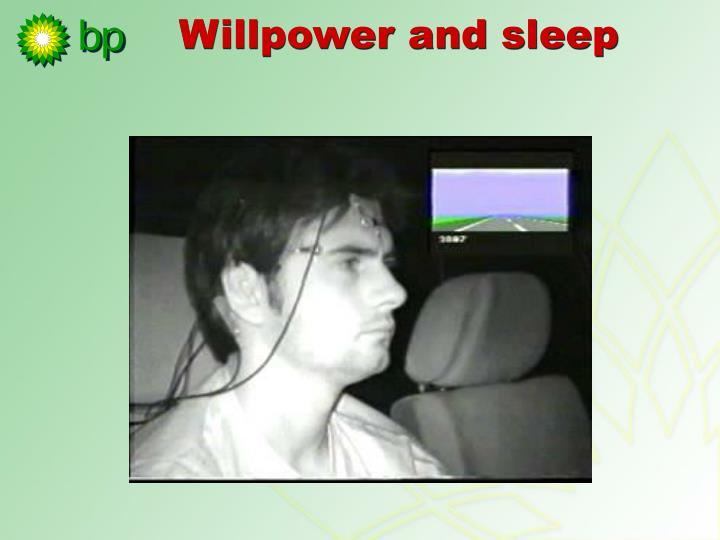 Willpower and sleep
