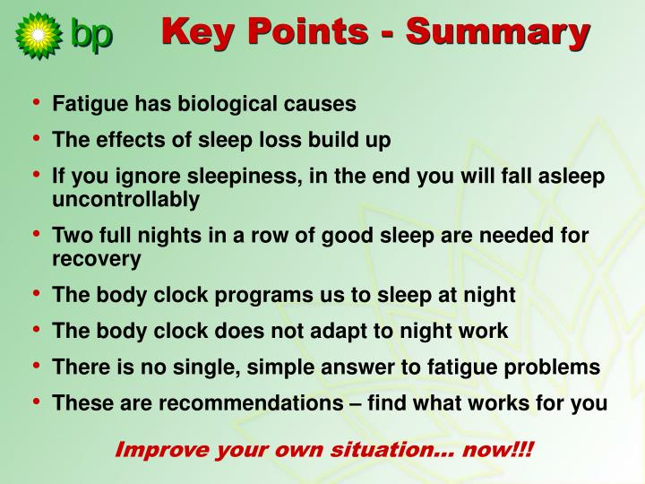 Fatigue has biological causes