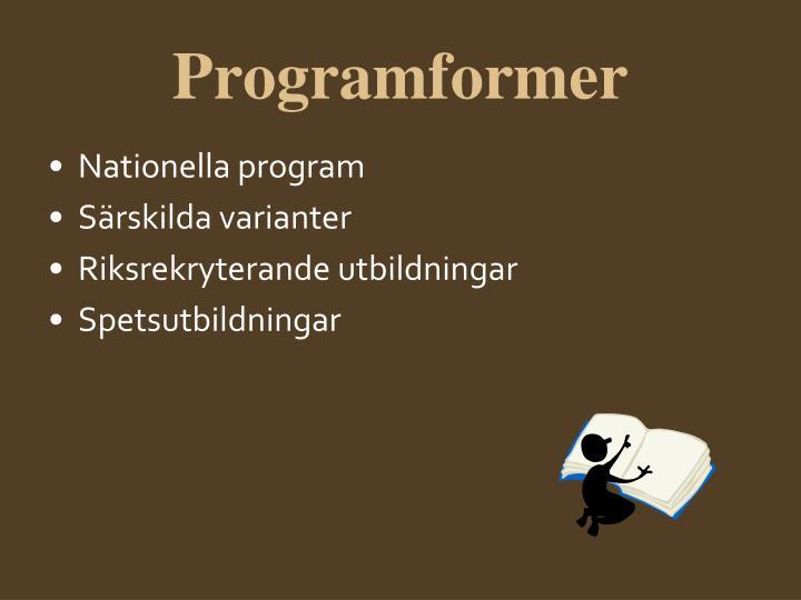 Programformer