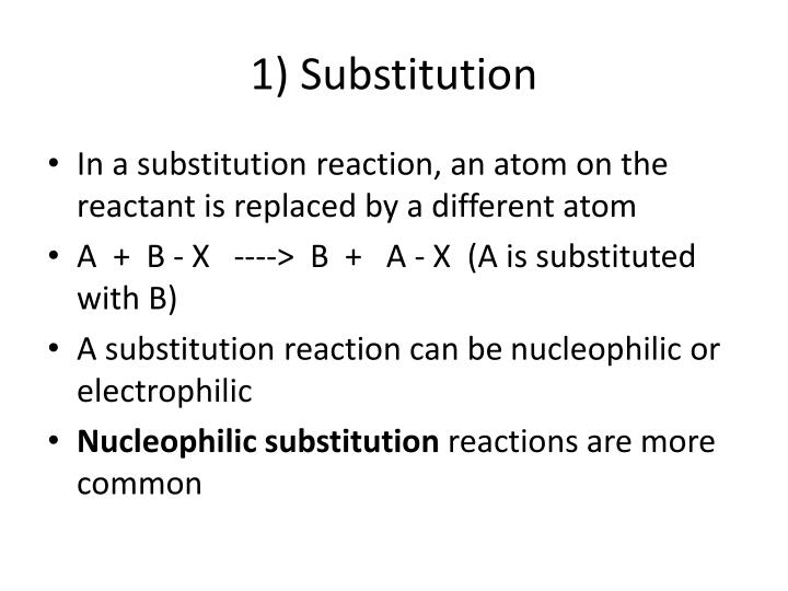1) Substitution