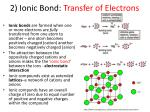 2 ionic bond transfer of electrons