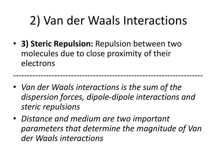 2) Van der Waals Interactions
