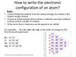how to write the electronic configuration of an atom