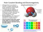 polar covalent bonding and electronegativity