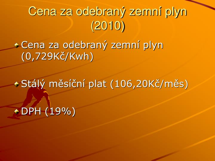Cena za odebraný zemní plyn (2010)
