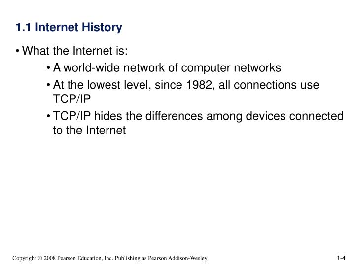 1.1 Internet History