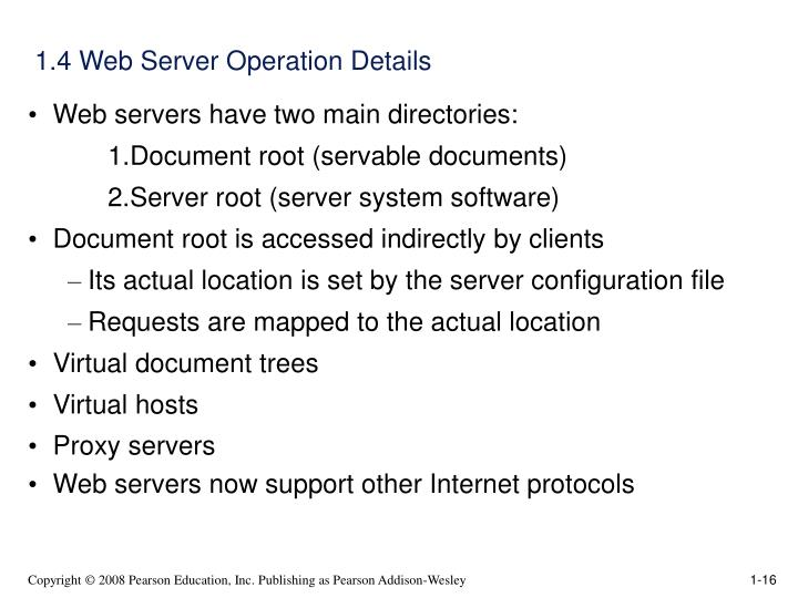 1.4 Web Server Operation Details