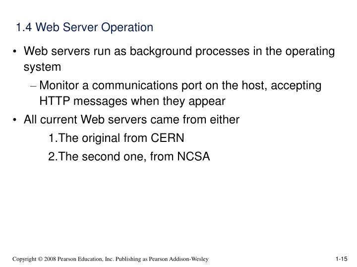 1.4 Web Server Operation