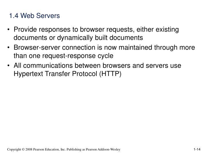 1.4 Web Servers