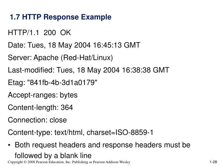 1.7 HTTP Response Example