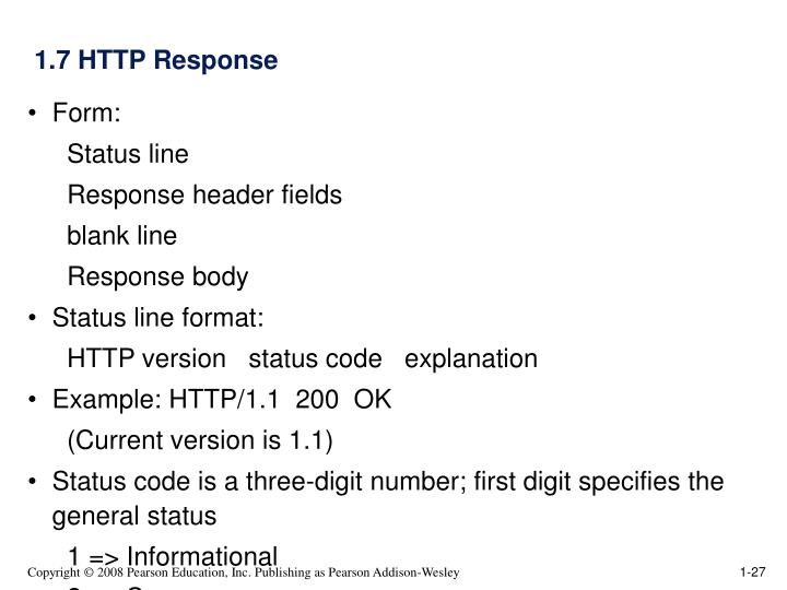 1.7 HTTP Response