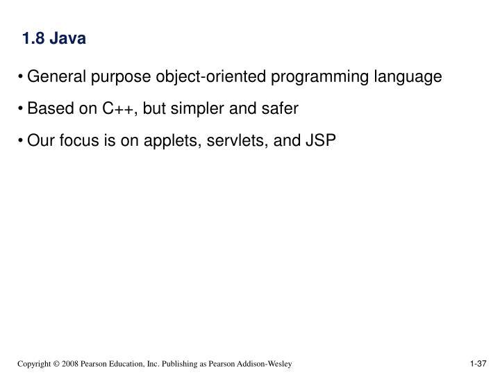 1.8 Java
