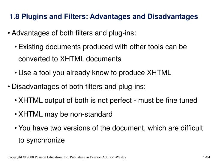 1.8 Plugins and Filters: Advantages and Disadvantages