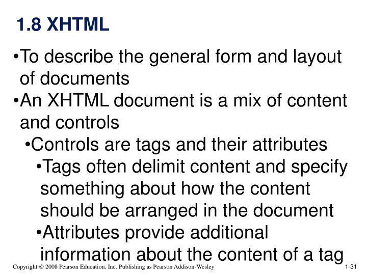 1.8 XHTML