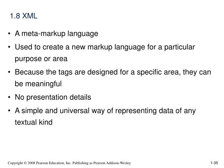 1.8 XML