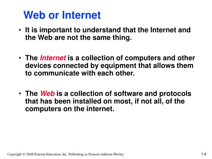 Web or Internet