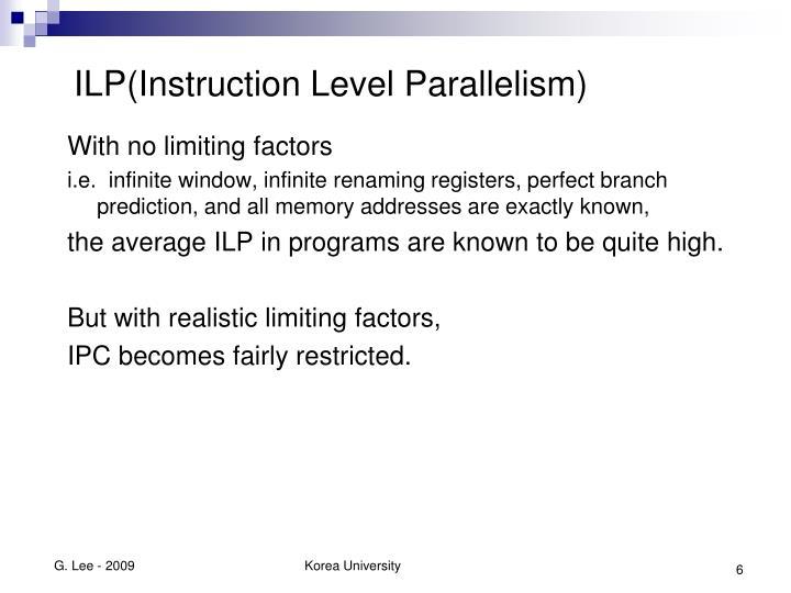 ILP(Instruction Level Parallelism)