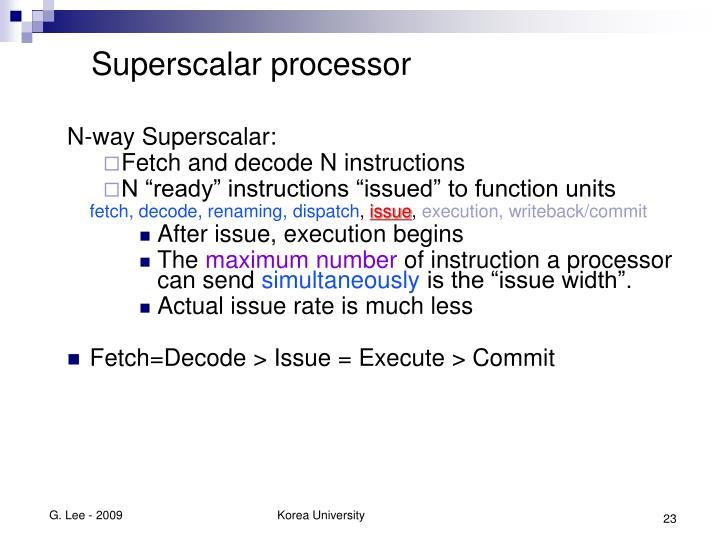 Superscalar processor