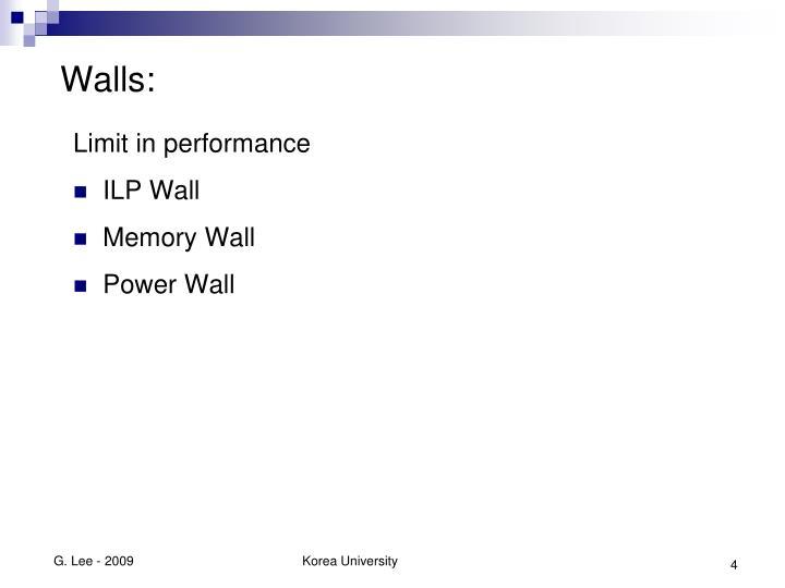 Walls: