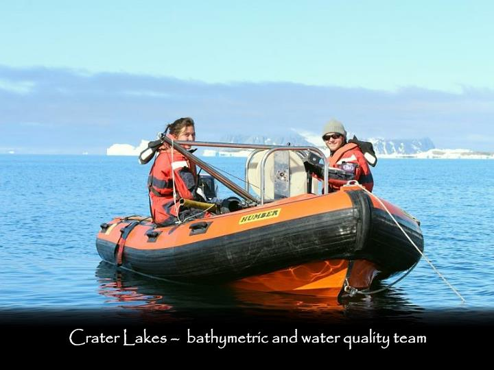 Crater Lakes –  bathymetric and water quality team