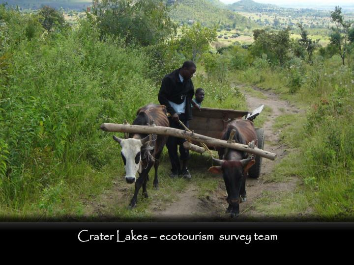Crater Lakes – ecotourism  survey team