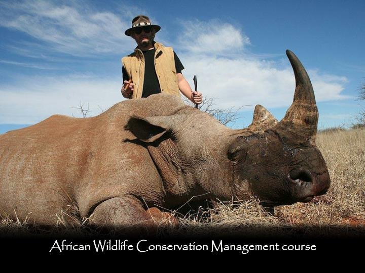 African Wildlife Conservation Management course