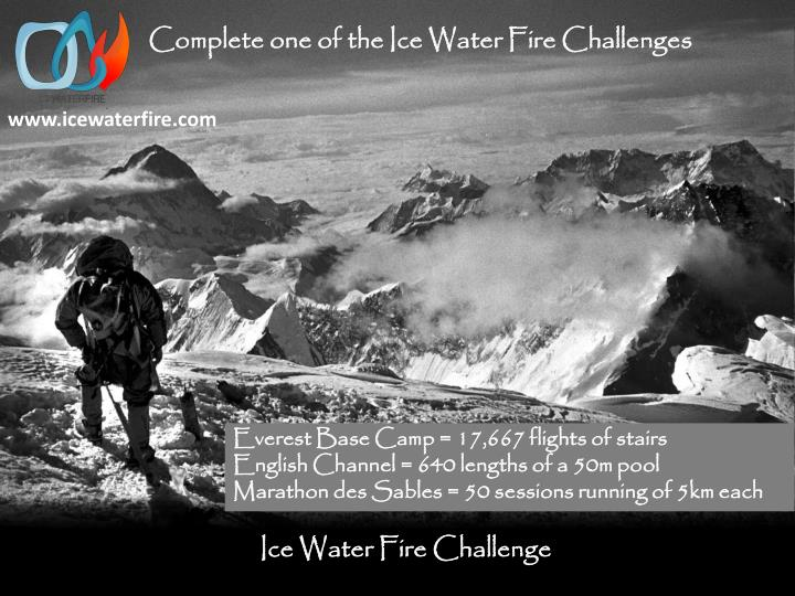 Complete one of the Ice Water Fire Challenges