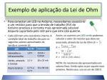 exemplo de aplica o da lei de ohm